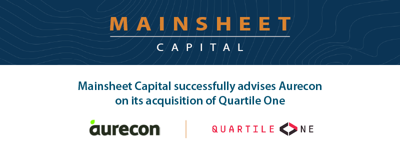 Mainsheet Capital successfully advises Aurecon on its acquisition of Quartile One